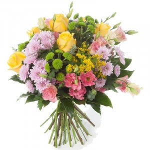 Mixed coloured flower mix
