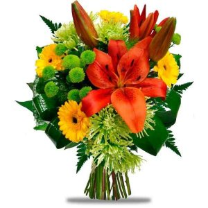 Lilies and mini Gerberas