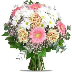 Carnations and mini Gerberas
